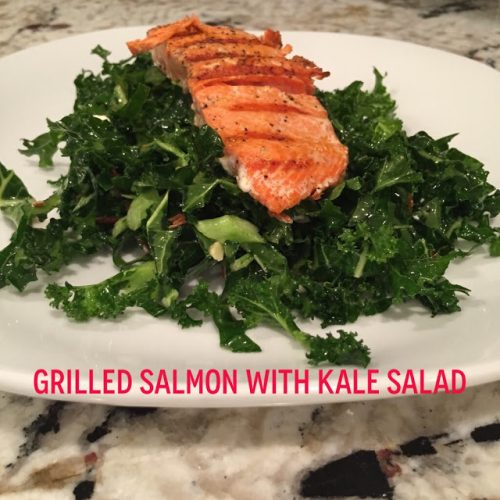 Grilled Salmon with Kale Salad