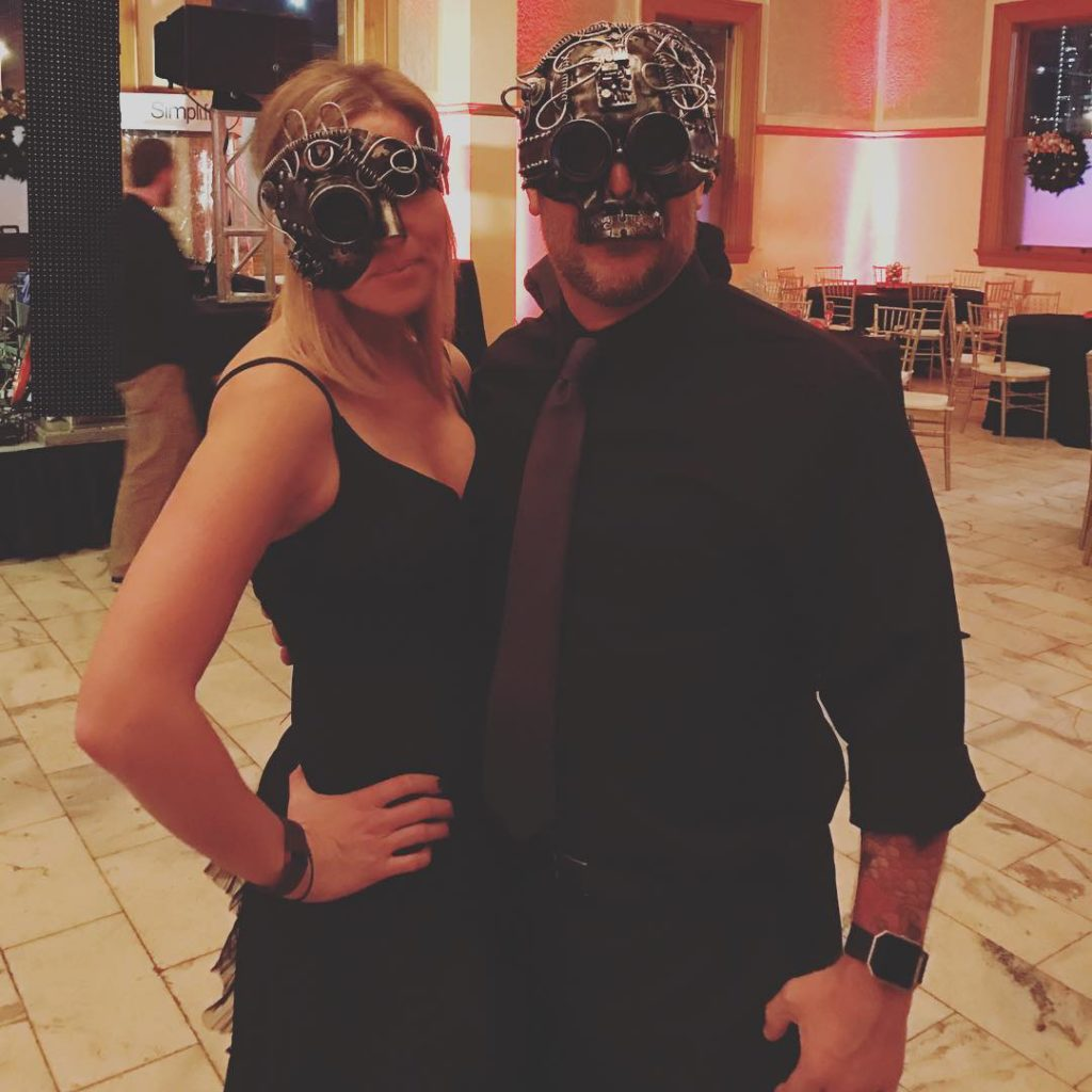 Steampunkin it for the holiday Masquerade Ball  holidayparty steampunk