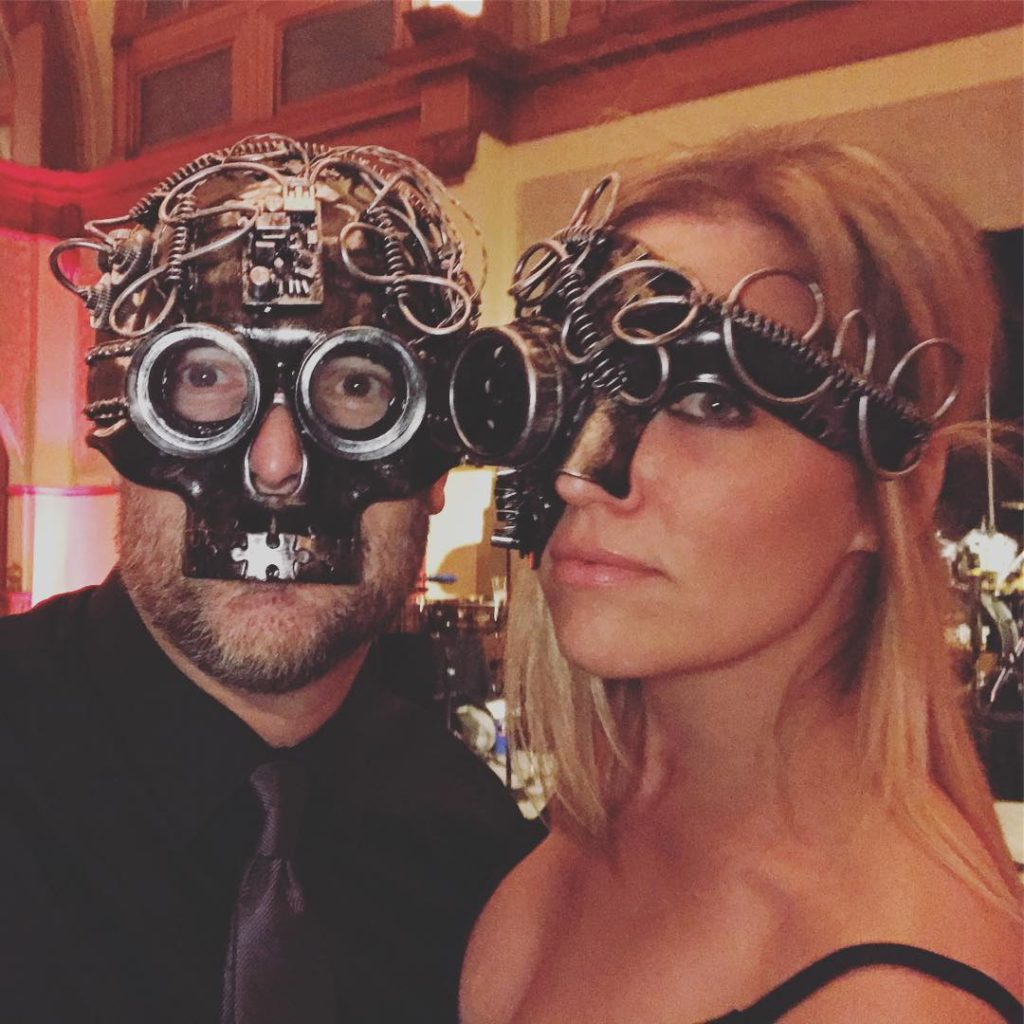 About last night Masquerade Ball holiday party  steampunk holidayparty